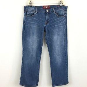 Lucky Brand Sweet' N Crop Crop Pants Jean Capri 10